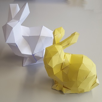 Stanford Bunny made of Paper