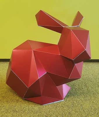 Foto Stanford Bunny made of Paper